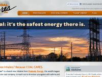 A screenshot of CoalCares.org