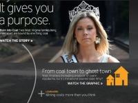 "A screenshot of the web-based film, ""Coal: A Love Story."""